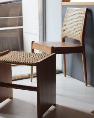 Rattan chair & stool