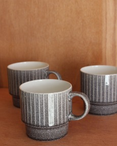 Stripe ceramic cup