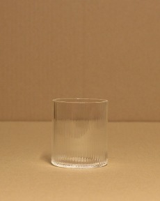 Clear stripe cup