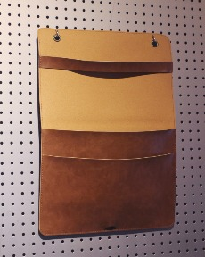 Leather pocket storage