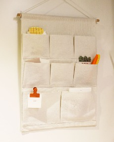 Fabric pocket storage